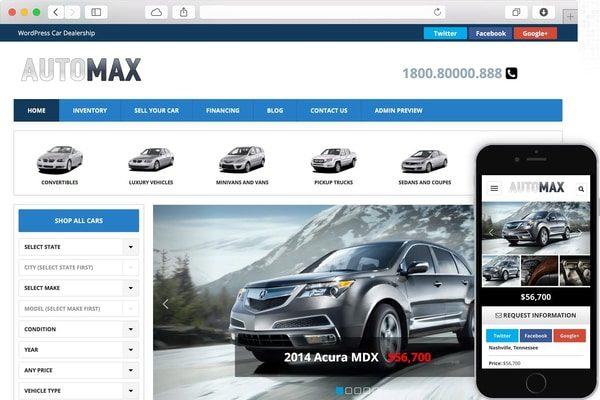 AutoMax Car dealership WP Theme