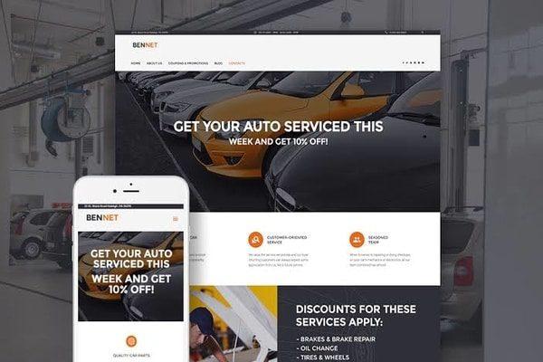 Bennet auto service WordPress theme