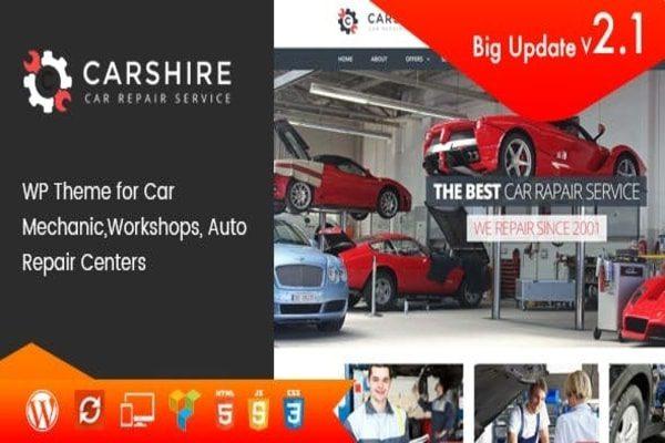 Car shire WordPress theme