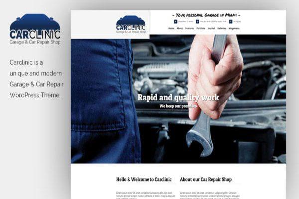 Car clinic Auto service WP Theme