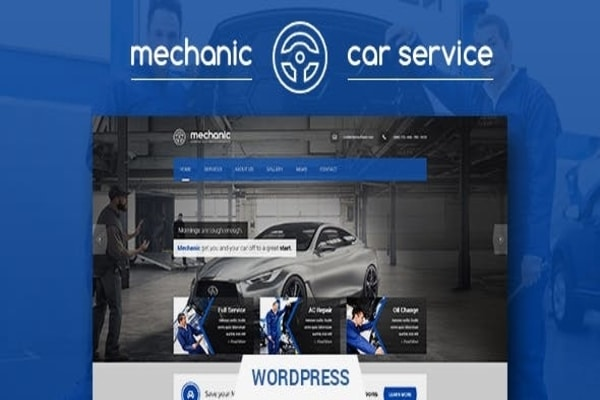 Mechanic auto repair and workshop WP theme