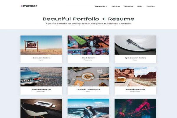 Meteor WordPress theme