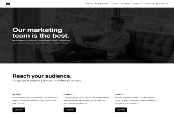 Monochrome WordPress theme