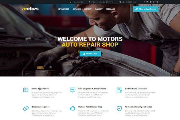 Motors auto-repair WordPress theme