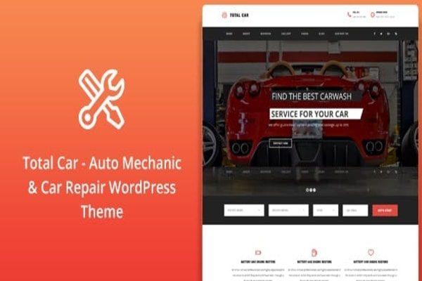 Total Car Auto service WordPress theme