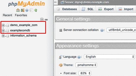 selectdatabase