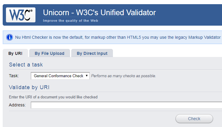 Unicorn - W3C's Unified Validator
