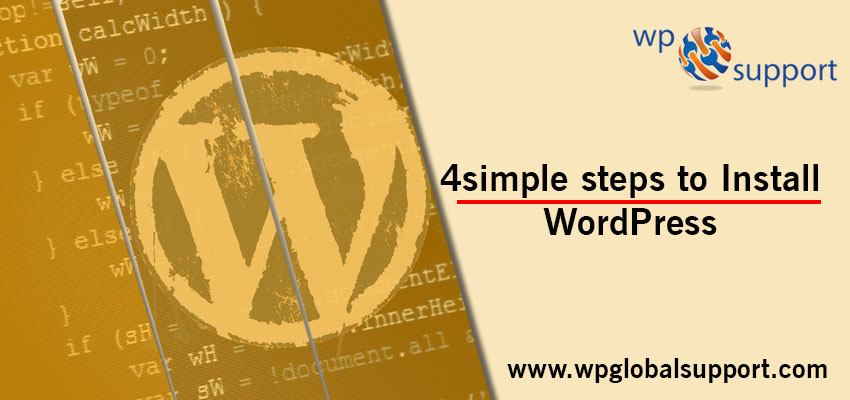 4 simple steps to Install WordPress