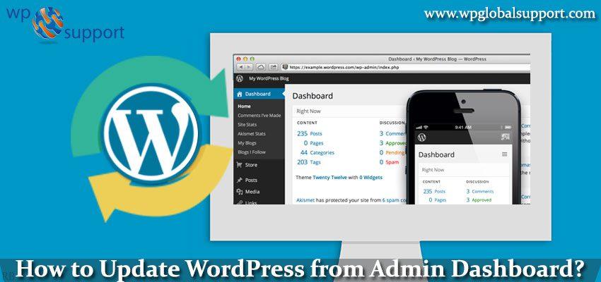 How to Update WordPress from Admin Dashboard?