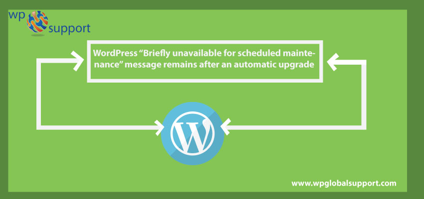 "WordPress ""Briefly unavailable for scheduled maintenance"" message remains after an automatic upgrade"