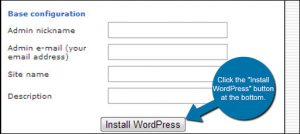 Installation WordPress cPanel