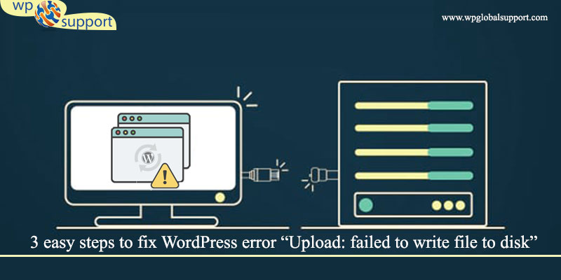 "3 easy steps to fix WordPress error ""Upload: failed to write file to disk"""