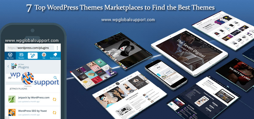 7 Top WordPress Themes Marketplaces to Find the Best Themes