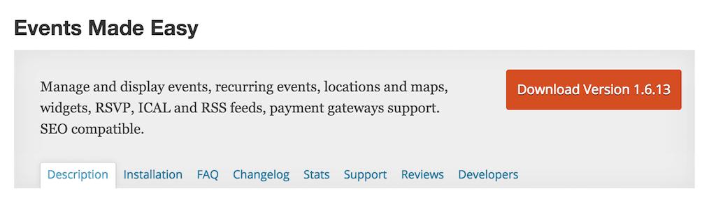 Events Made Easy Plugin WordPress RSVP plugins