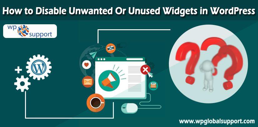 Disable Unwanted Or Unused Widgets in WordPress