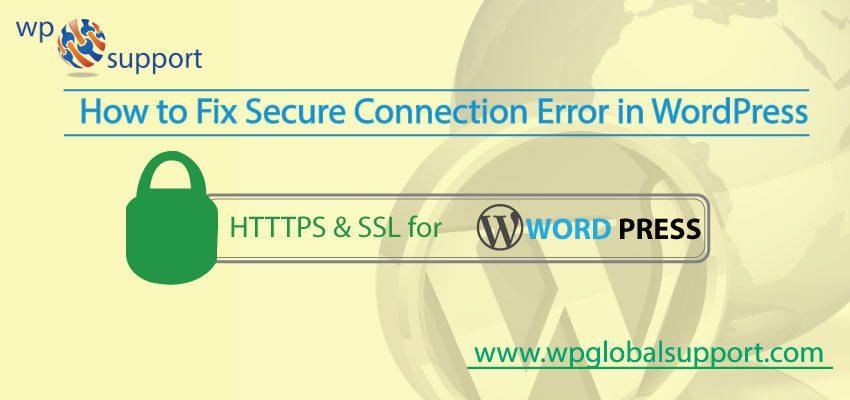 Fix Secure Connection Error in WordPress