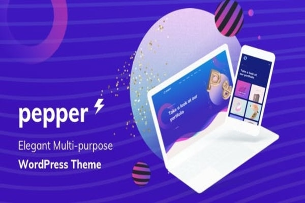 Pepper WordPress designer theme