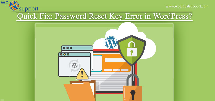Password Reset Key Error