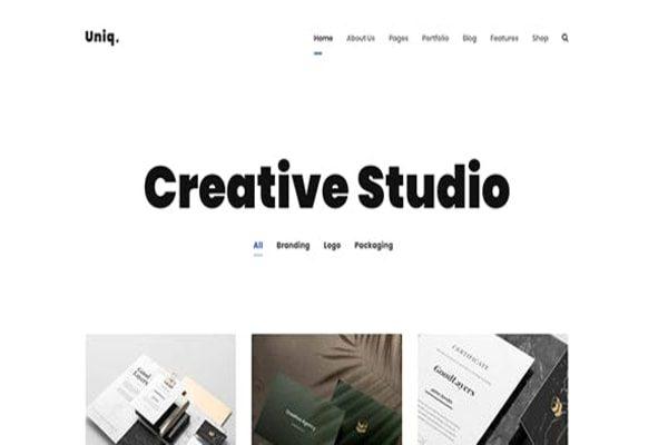 Uniq creative WP theme