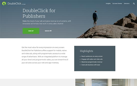 DoubleClick WordPress plugin