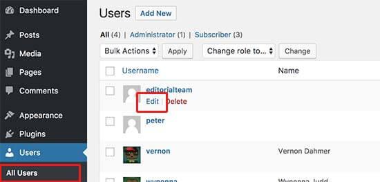 remove author name