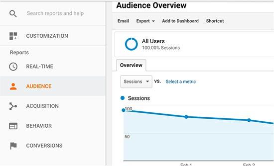 google analytics report overview