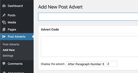 Insert Post Ads advertising management plugin