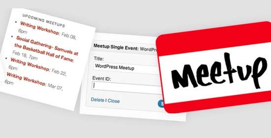 7. Meetup Widgets Plugin