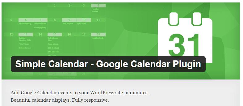 5.Simple Calendar Plugin