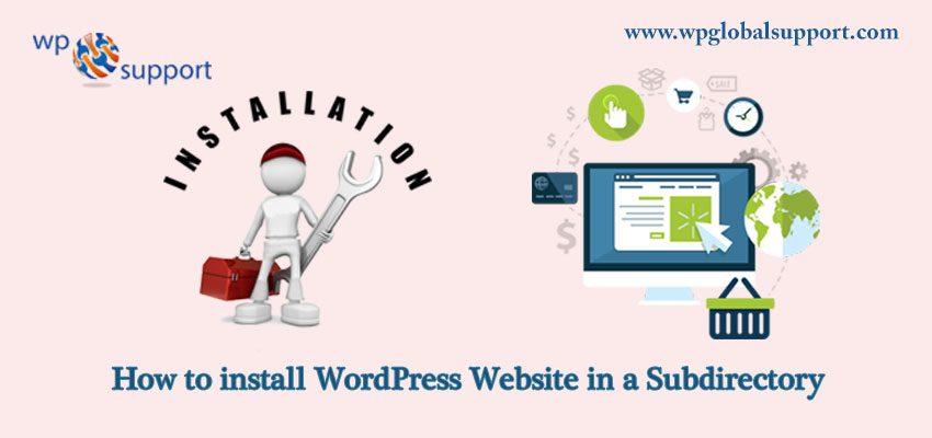 Install WordPress in Subdirectory