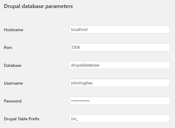 database-parameters