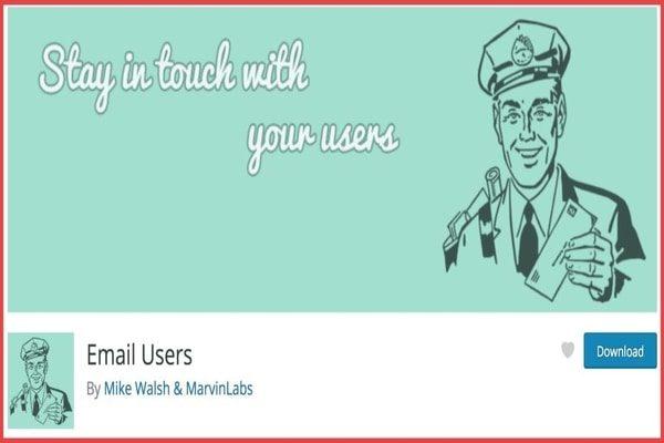 Email users WordPress plugin