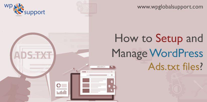 How to Setup and Manage WordPress Ads.txt files?