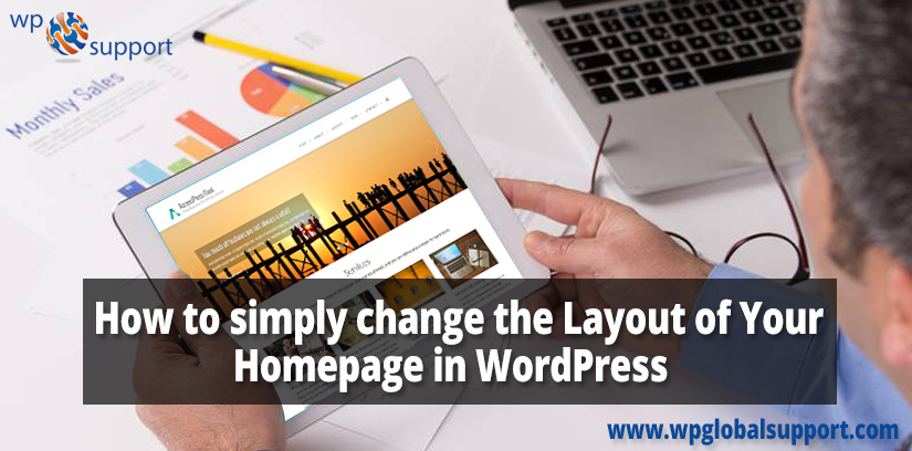 How to simply change the Layout of Your Homepage in WordPress