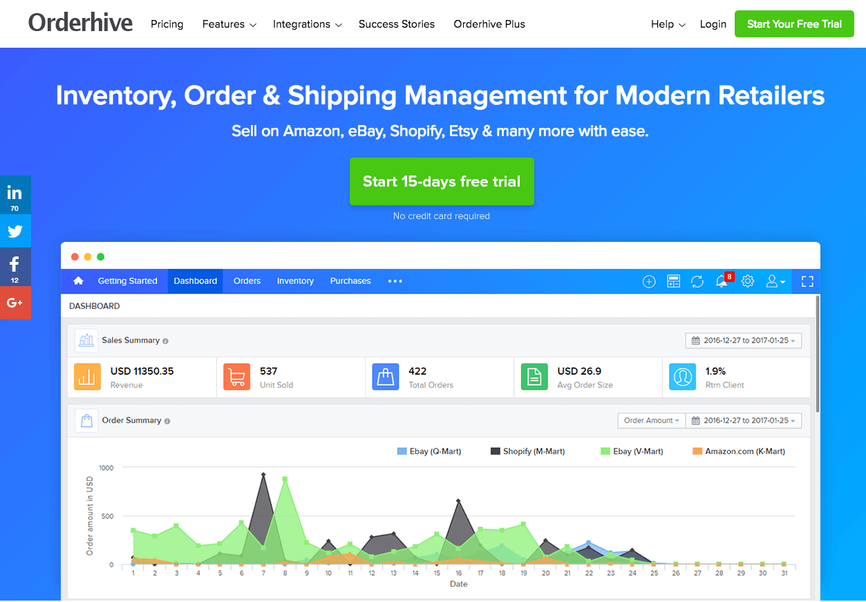 7. Orderhive Inventory Management