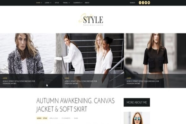 Street style fashion WP theme
