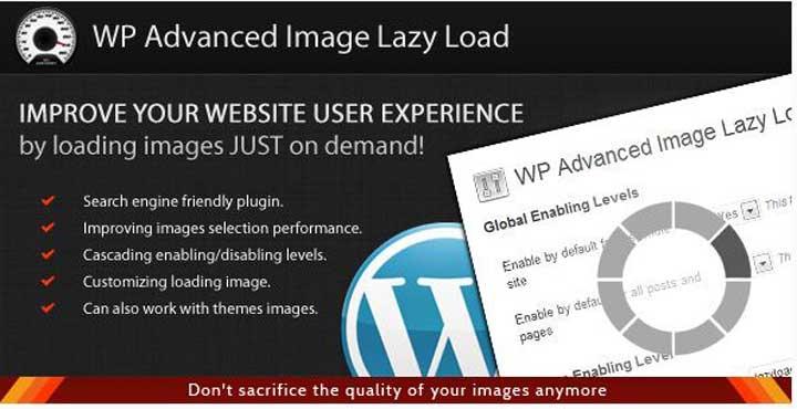 WordPress Advanced Image Lazy Load Plugin