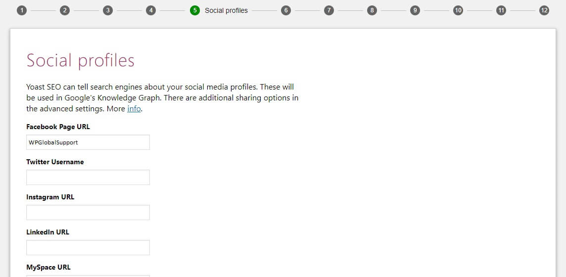 Yoast seo social profiles