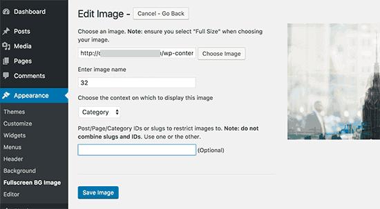 Add a Background Image to WordPress Website
