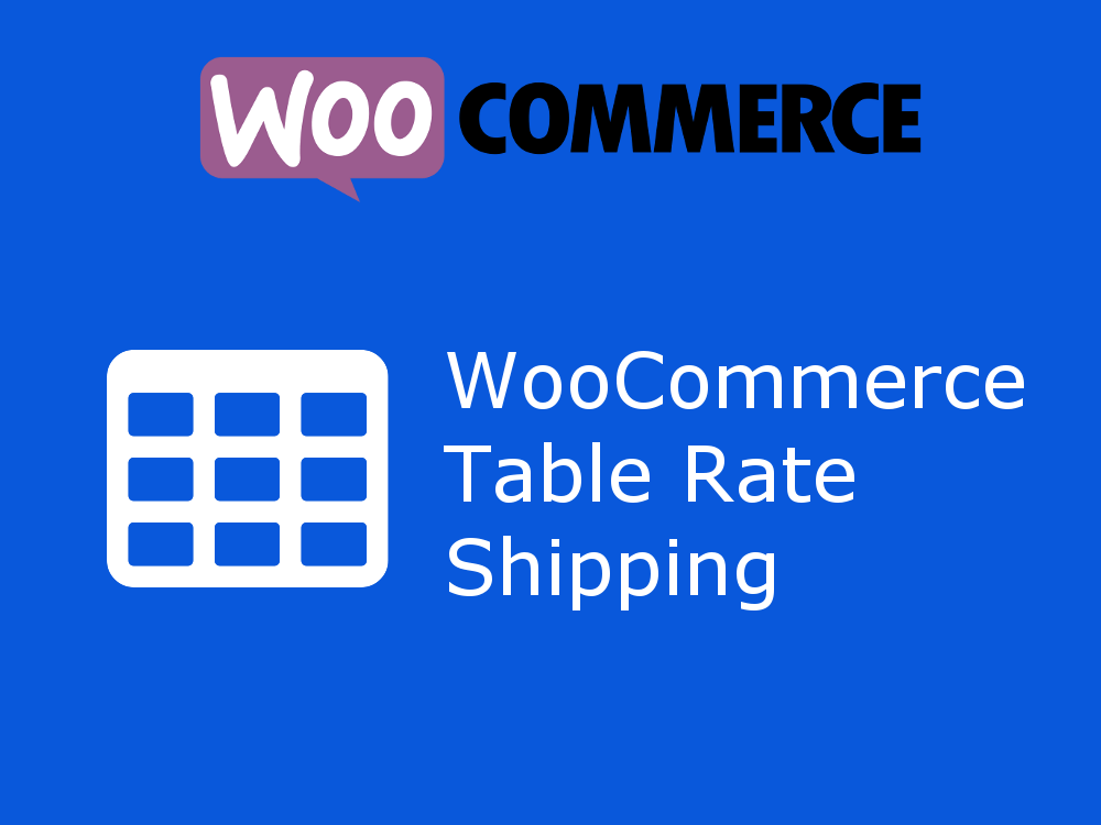 Table Rate shipping by JEM