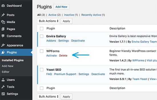 manually installed plugin