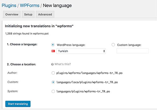 newlanguage locotranslate