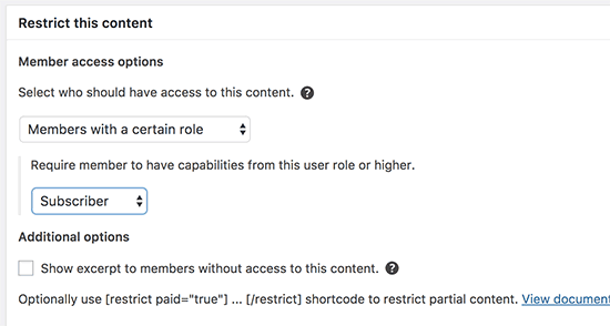restrict by user role