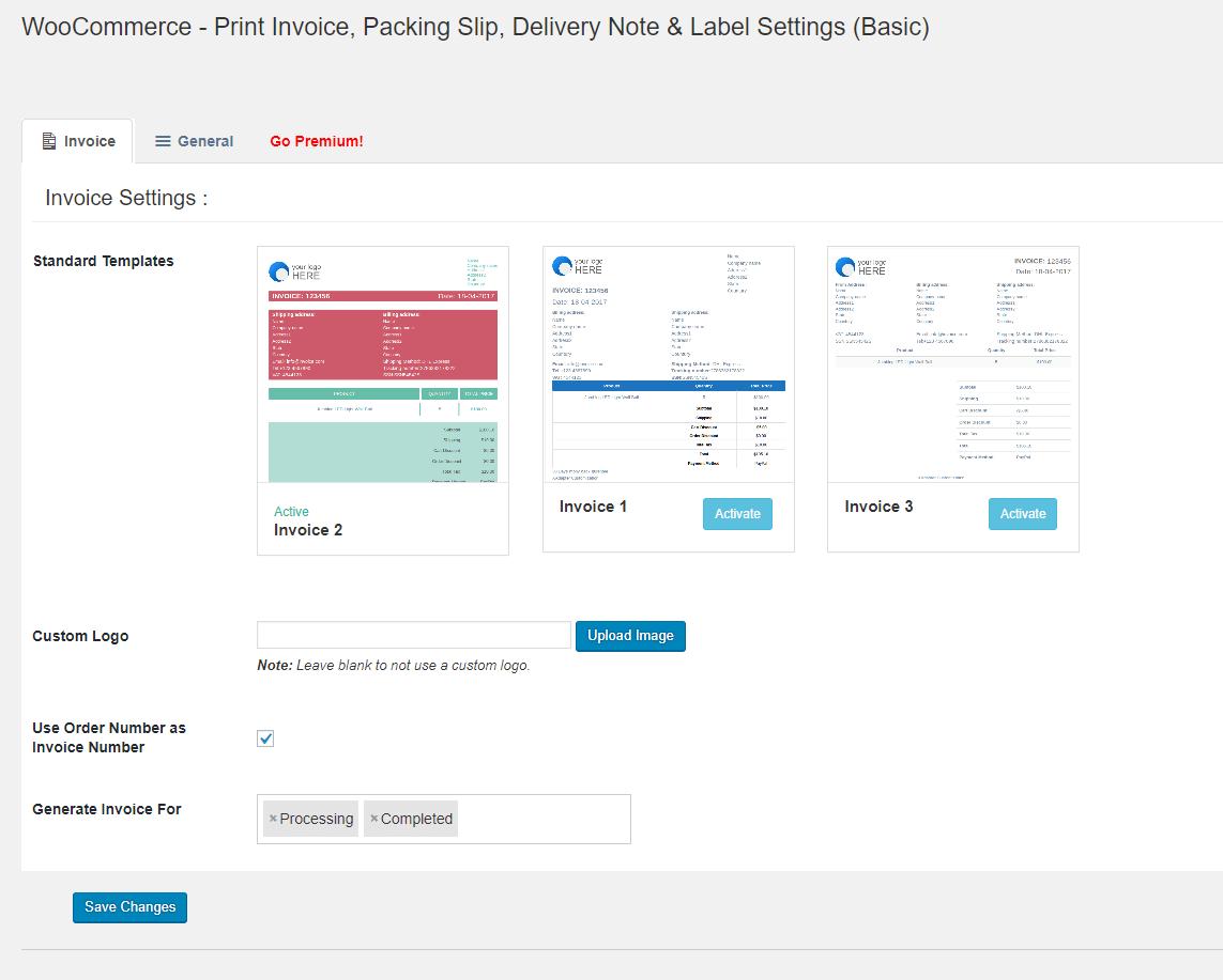 WooCommerce PDF Invoices amp Packing Slips Premium Templates