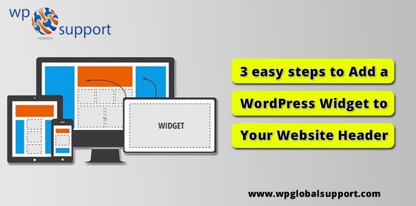 3 easy steps to Add a WordPress Widget to Your Website Header