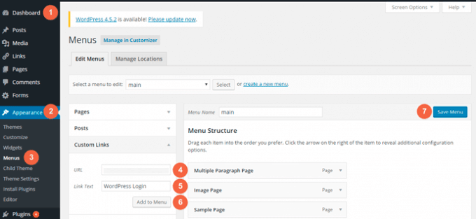 Add WordPress Login URL in website menu