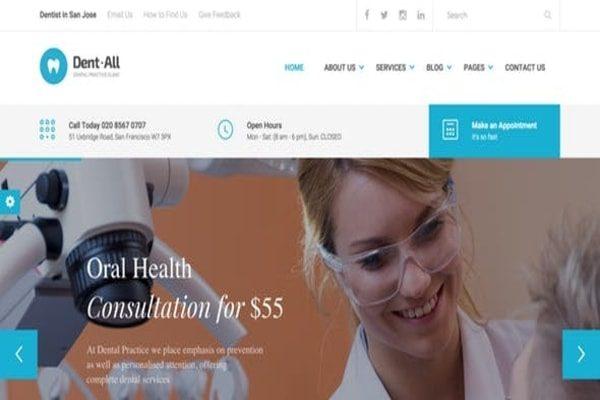 Dent-all Doctors WordPress theme
