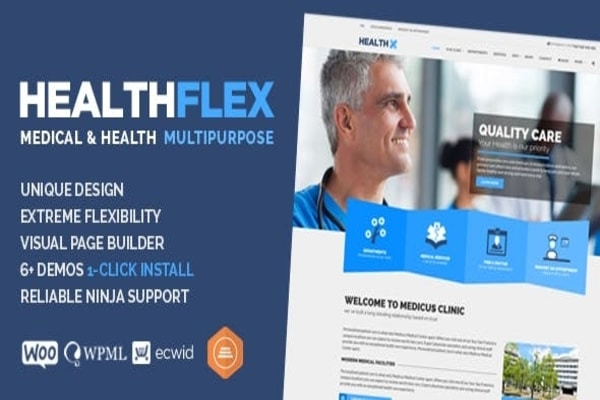 Healthflex health WordPress theme