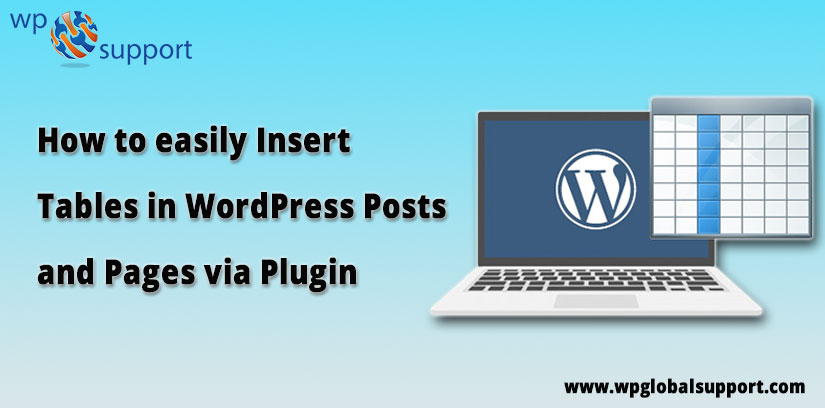 Insert Tables in WordPress Posts and Pages via Plugins