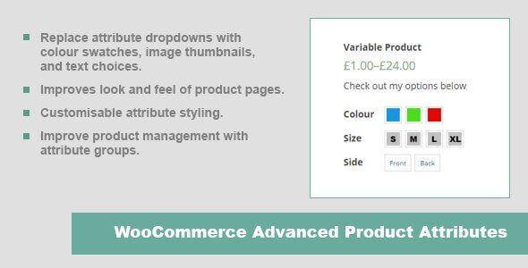 JC WooCommerce Advanced Product Attributes plugin